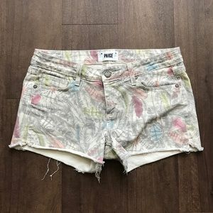 Paige Feather Jean Shorts